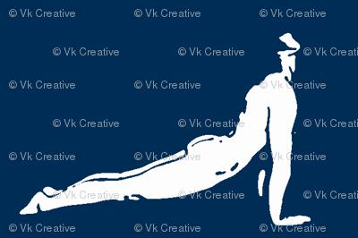 Yoga Photoframe Up Dog Blue