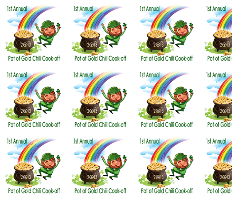 Pot of Gold Chili Cook-Off fabric by elemental-design on Spoonflower - custom fabric