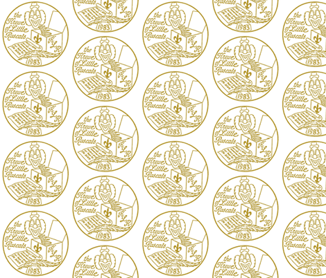 Krewe of Little Rascals Gold Logo fabric by elemental-design on Spoonflower - custom fabric