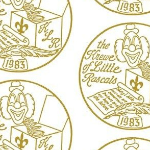 Krewe of Little Rascals Gold Logo