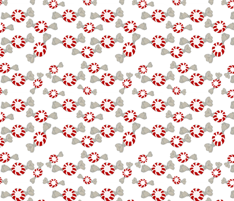 Peppermints fabric by karenharveycox on Spoonflower - custom fabric