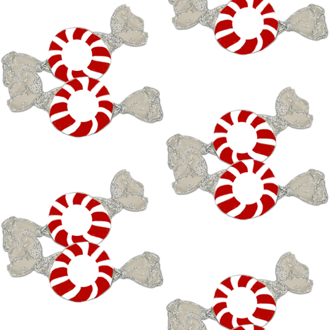 Peppermint Twins fabric by karenharveycox on Spoonflower - custom fabric