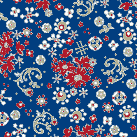 Ditsy Flora / Liberty fabric by paragonstudios on Spoonflower - custom fabric