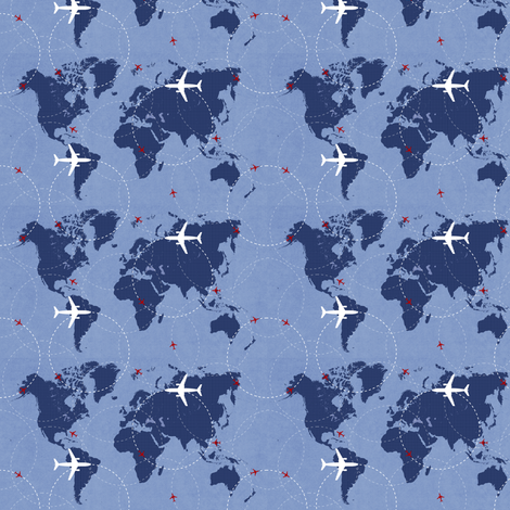 Flight Path fabric by cblaine222 on Spoonflower - custom fabric