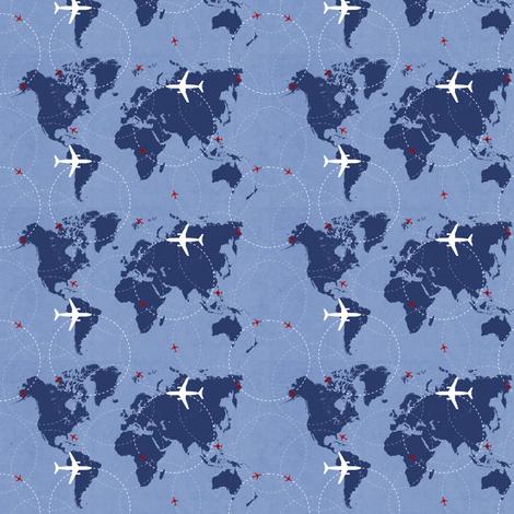 Flight Path fabric by cblaine222 on Spoonflower - custom fabric