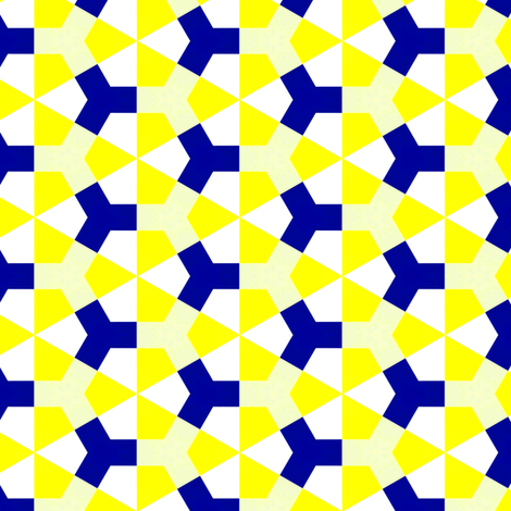 Meidoorn Yellow & Blue Small fabric by stoflab on Spoonflower - custom fabric