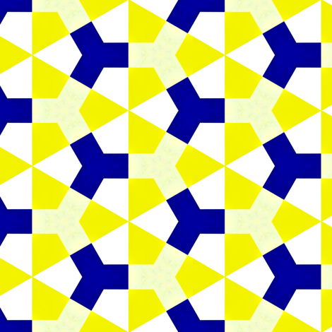 Meidoorn Yellow &amp; Blue fabric by stoflab on Spoonflower - custom fabric