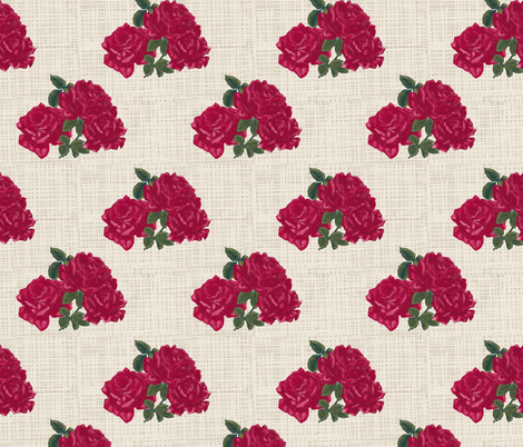 Roses_linen fabric by kirpa on Spoonflower - custom fabric