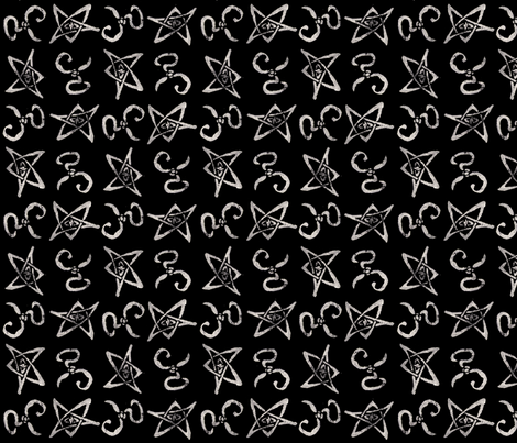 Elder Sign fabric by doodle-ee-doo on Spoonflower - custom fabric