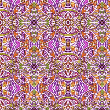 Come With Me To Calcutta fabric by edsel2084 on Spoonflower - custom fabric