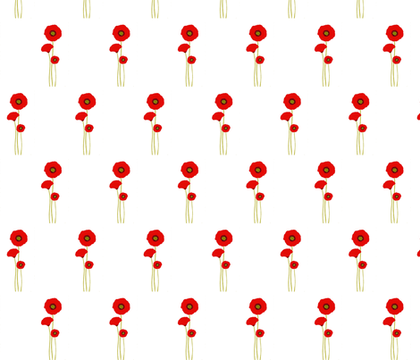 Fields of Poppies fabric by podaiboo on Spoonflower - custom fabric