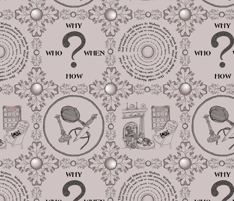 It's a mystery!!!!!!!!!!!!!-Murderous Mauve fabric by glimmericks on Spoonflower - custom fabric