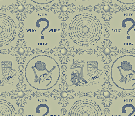 It's a mystery!!!!!!!!!!!!!-Sage Wisdom fabric by glimmericks on Spoonflower - custom fabric