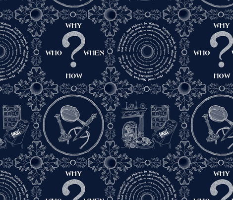It's a mystery!!!!!!!!!!!!!-Blueprint for Disaster fabric by glimmericks on Spoonflower - custom fabric