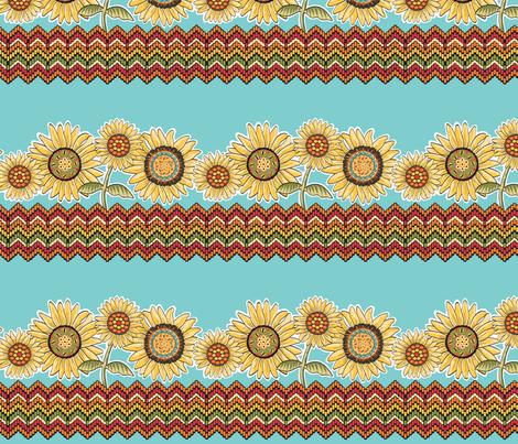 Believe_border_brown fabric by mindsthatcreate on Spoonflower - custom fabric