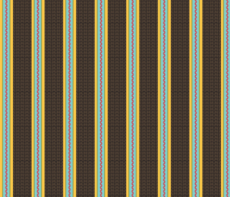 Believe_stripe_brown fabric by mindsthatcreate on Spoonflower - custom fabric