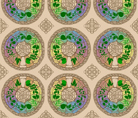 celtic_zodiac fabric by roxiespeople on Spoonflower - custom fabric