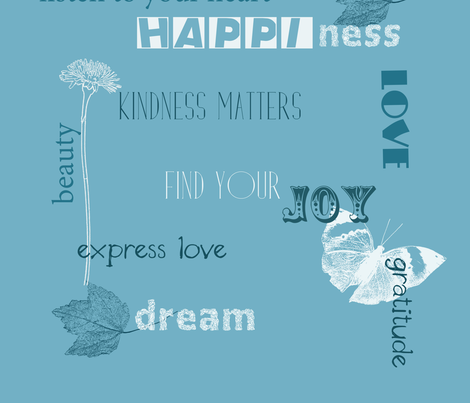 Inspirational Expressions fabric by peacefuldreams on Spoonflower - custom fabric