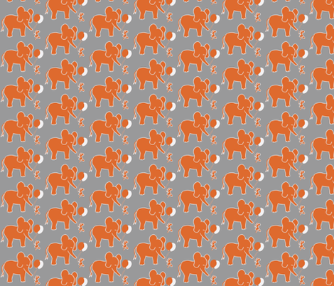 Let's be Friends in Orange and Grey fabric by kbexquisites on Spoonflower - custom fabric