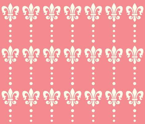 Fleur de lis Dots fabric by peacefuldreams on Spoonflower - custom fabric