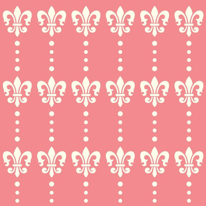 Fleur de lis Dots