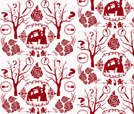 Miss Scarlet fabric by graceful on Spoonflower - custom fabric