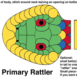 Primary Rattler - large cut and sew kit