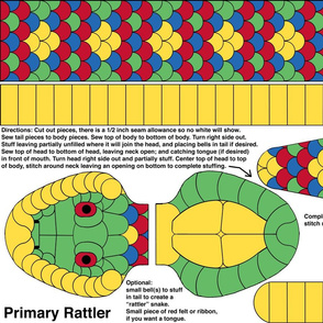 Baby Primary Rattler - cut and sew kit