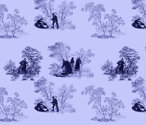 murder_mystery toile 2 fabric by m__elizabethblair on Spoonflower - custom fabric