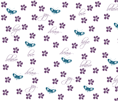 Butterflies and Flowers fabric by peacefuldreams on Spoonflower - custom fabric