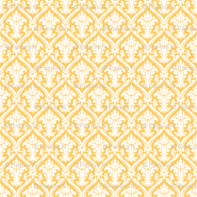 Vintage Yellow Damask