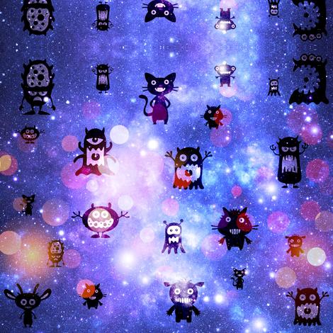 Cute monsters fabric by cutiecat on Spoonflower - custom fabric