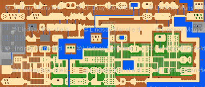 Zelda Map - Legend of Zelda