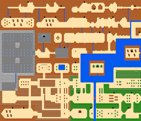 Zelda Map - Legend of Zelda fabric by vanityblood on Spoonflower - custom fabric
