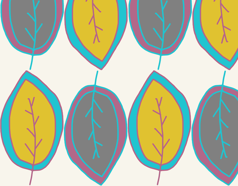 leaf1 fabric by studio_ggc on Spoonflower - custom fabric