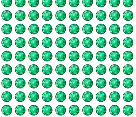 Emeralds Marching fabric by domoshar on Spoonflower - custom fabric