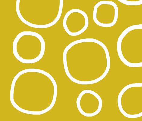 circles-yellow fabric by studio_ggc on Spoonflower - custom fabric