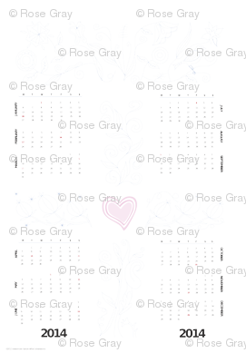 2014 Jacobean DIY Embroidery Calendar