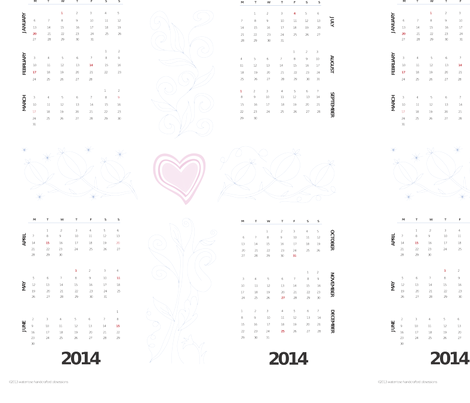 2014 Jacobean DIY Embroidery Calendar fabric by waterrose on Spoonflower - custom fabric