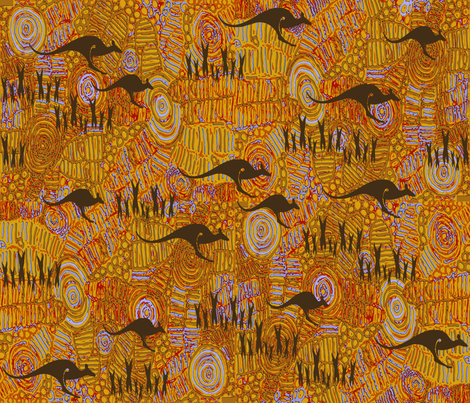 AussieLands fabric by catail_designs on Spoonflower - custom fabric