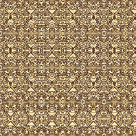 When the World Was Sepia (Celtic Knot style) fabric by edsel2084 on Spoonflower - custom fabric