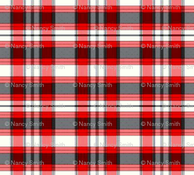 red grey check