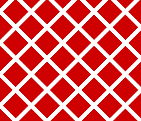 Bold Red lattice  fabric by nascustomwallcoverings on Spoonflower - custom fabric