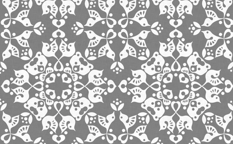 Freyja_forest_grey fabric by bjornonsaturday on Spoonflower - custom fabric