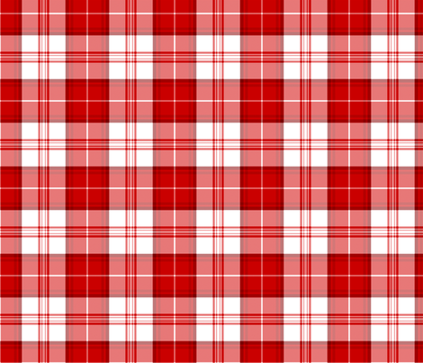 Red Tartan Bold fabric by nascustomwallcoverings on Spoonflower - custom fabric
