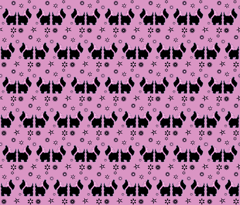 SCOTTY'S IN THE  PINK fabric by bluevelvet on Spoonflower - custom fabric