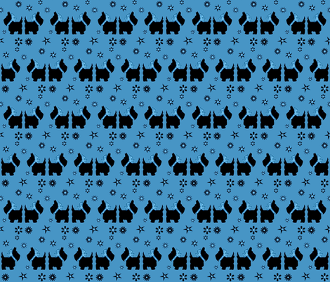 SCOTTY'S BLUE STARZ fabric by bluevelvet on Spoonflower - custom fabric