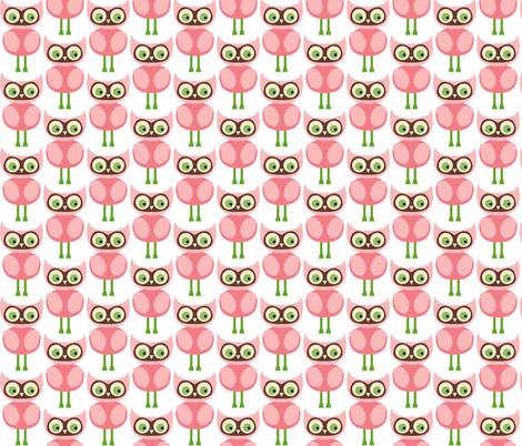 Cute Pink Owls fabric by peacefuldreams on Spoonflower - custom fabric