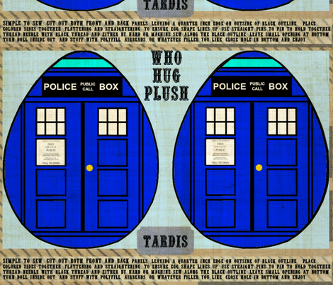 Big Tardis Plush fabric by marchhare on Spoonflower - custom fabric