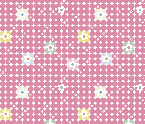 Floral Dot fabric by gracemellow on Spoonflower - custom fabric